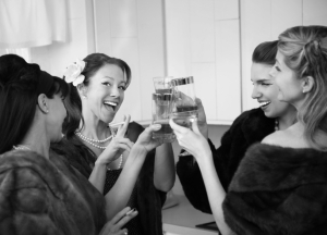 Women Raising A Toast